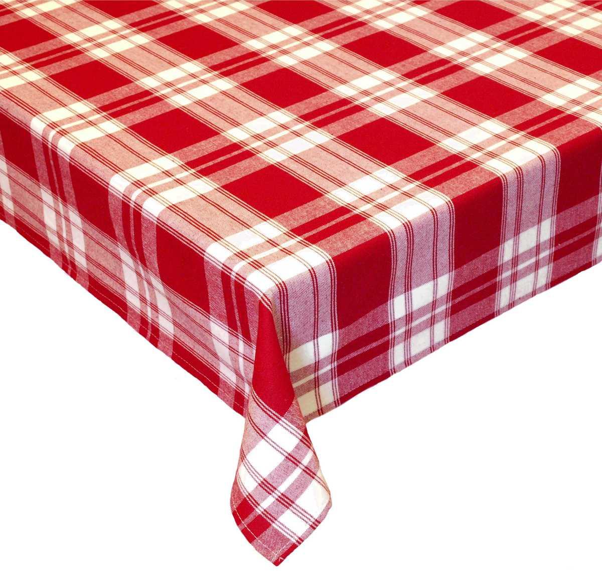 Forbyt, Ubrus celoroční, 1036 Káro, červený 120 x 140cm