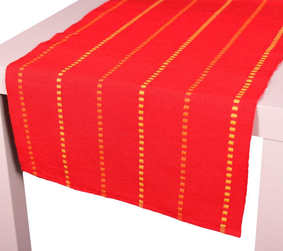 Forbyt, Dekorační prostírání, Viktoria kostičky, červené 40 x 120 cm