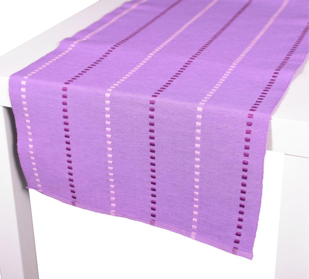 Forbyt, Prostírání bavlněné, Viktoria kostičky, fialové 40 x 120 cm