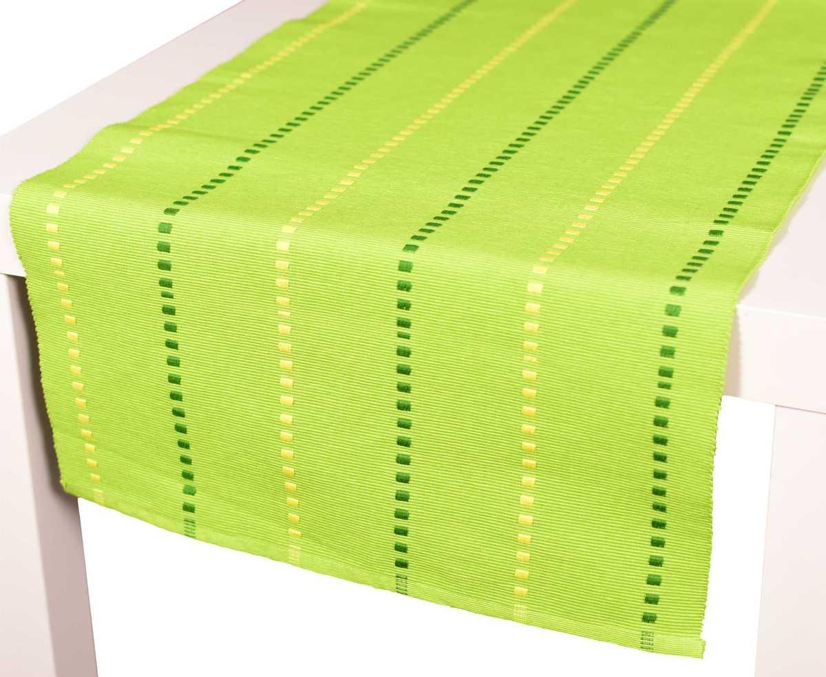 Forbyt, Prostírání bavlněné, Viktoria kostičky, zelené 40 x 120 cm