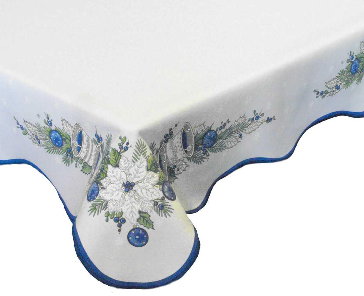 Forbyt, Ubrus vánoční, Zvonky, modrý, čtverec 85 x 85 cm