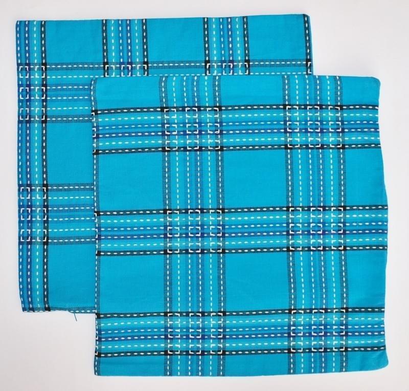 Forbyt Návlek ozdobný na polštář, sada 2 ks - modrá