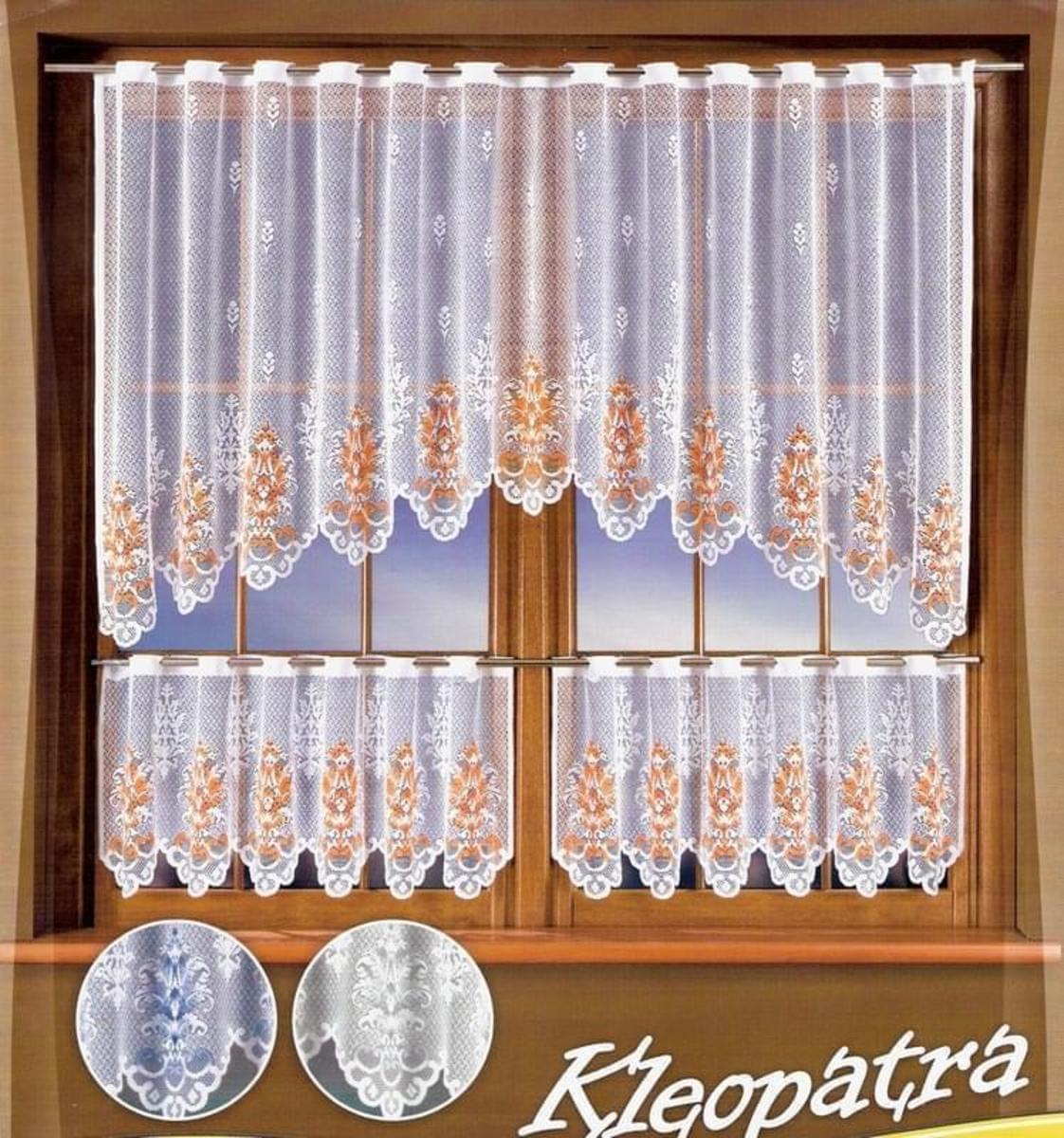 Forbyt Hotová záclona Kleopatra 250 x 100 + 2 ks x (125 x 45 cm) bílá