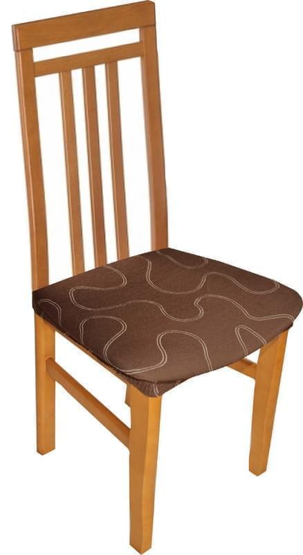 Forbyt, Potah multielastický na sedák židle, Lazos hnědý komplet 2 ks