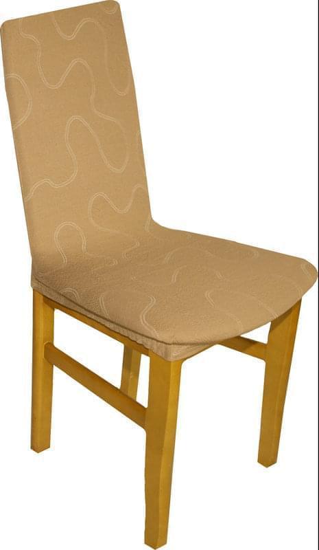 Forbyt, Potah multielastický na židle, Lazos tmavě béžový, komplet 2 ks
