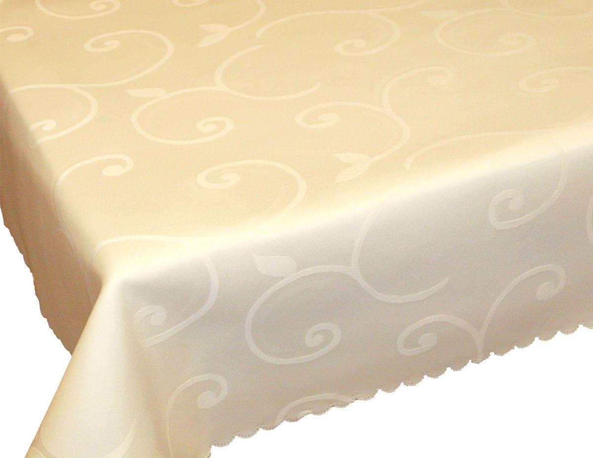 Forbyt, Ubrus s nešpinivou úpravou, Ornament žakárový, bílý 120 x 140cm
