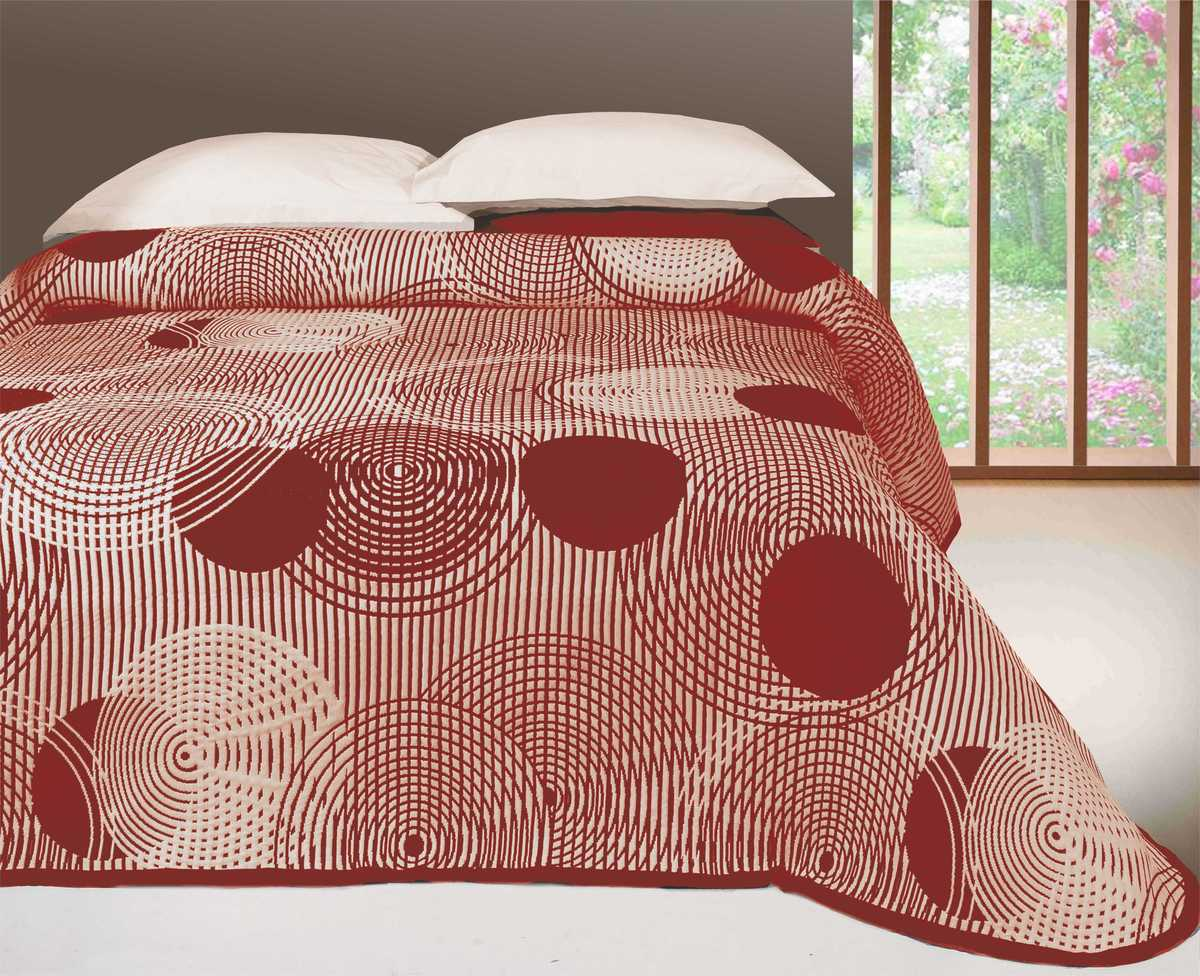 Forbyt, Přehoz na postel, Scorpio, bordový 240 x 260 cm