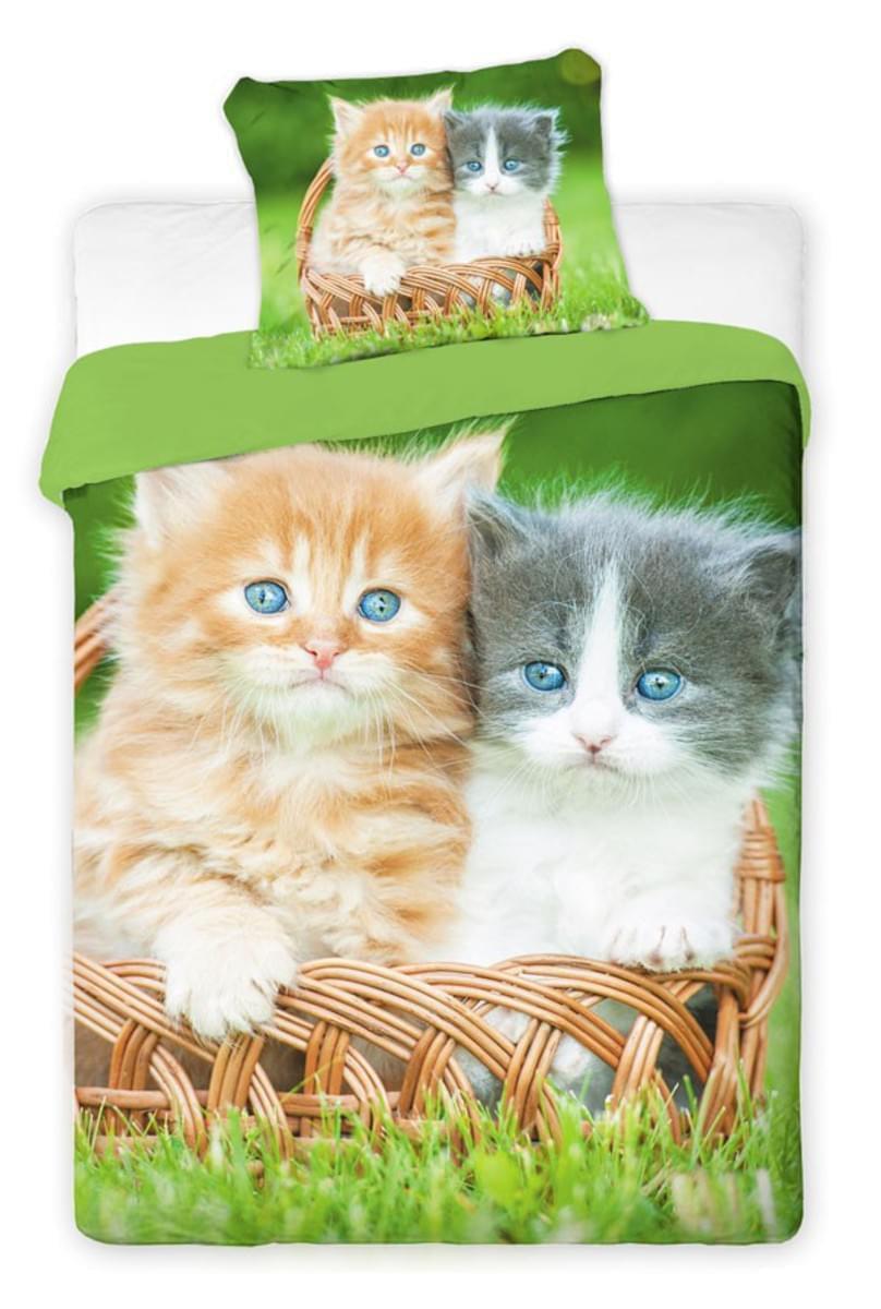 Forbyt, Povlečení bavlněné, Kočičky v košíku