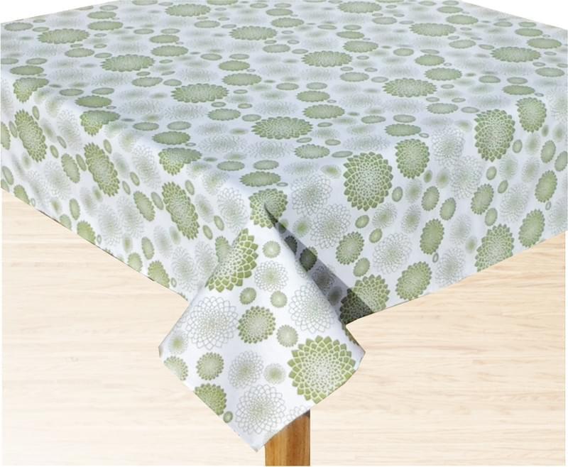 Forbyt Ubrus bavlněný, zelená květina 120 x 145 cm