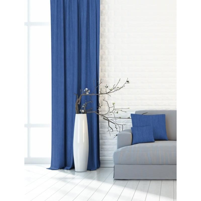 Forbyt, Dekorační látka nebo závěs, Blackout Žihaný 150 cm, modrý