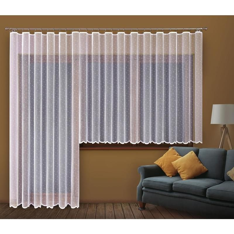 Forbyt, Hotová záclona nebo balkonový komplet, Dora, bílá 300 x 130 cm