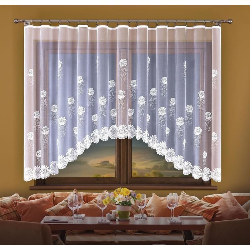 Forbyt, Hotová záclona, Flora, bílá 250 x 120 cm