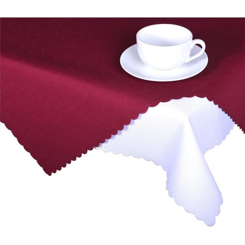 Forbyt, Ubrus s nešpinivou úpravou, Jednobarevný Deštík, bordový 50 x 100 cm