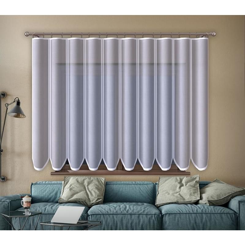 Forbyt, Hotová záclona nebo balkonový komplet, Edita, bílá 200 x 250 cm