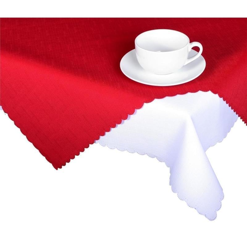 Forbyt, Ubrus s nešpinivou úpravou, Jednobarevný Deštík, červený 50 x 100 cm