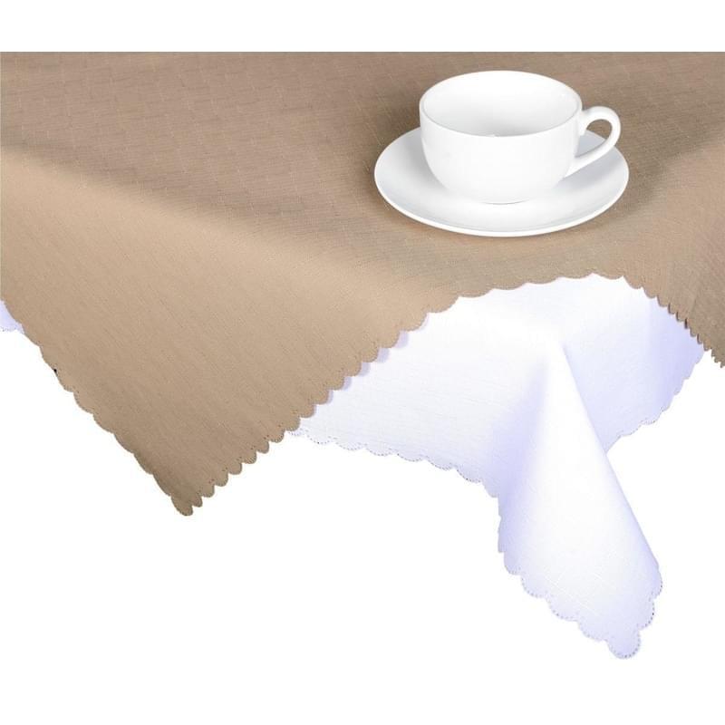 Forbyt, Ubrus s nešpinivou úpravou, Jednobarevný Deštík, kávový 50 x 100 cm