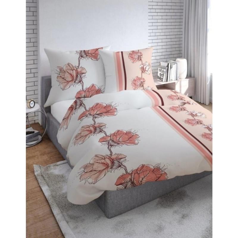 Forbyt, Povlečení bavlněné, Flanel Květy růžové,140 x 200 + 70 x 90 cm