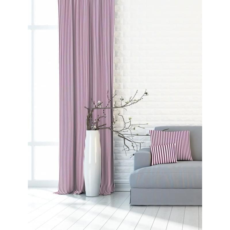 Forbyt, Závěs dekorační, OXY Proužky 150 cm, vinovorůžový