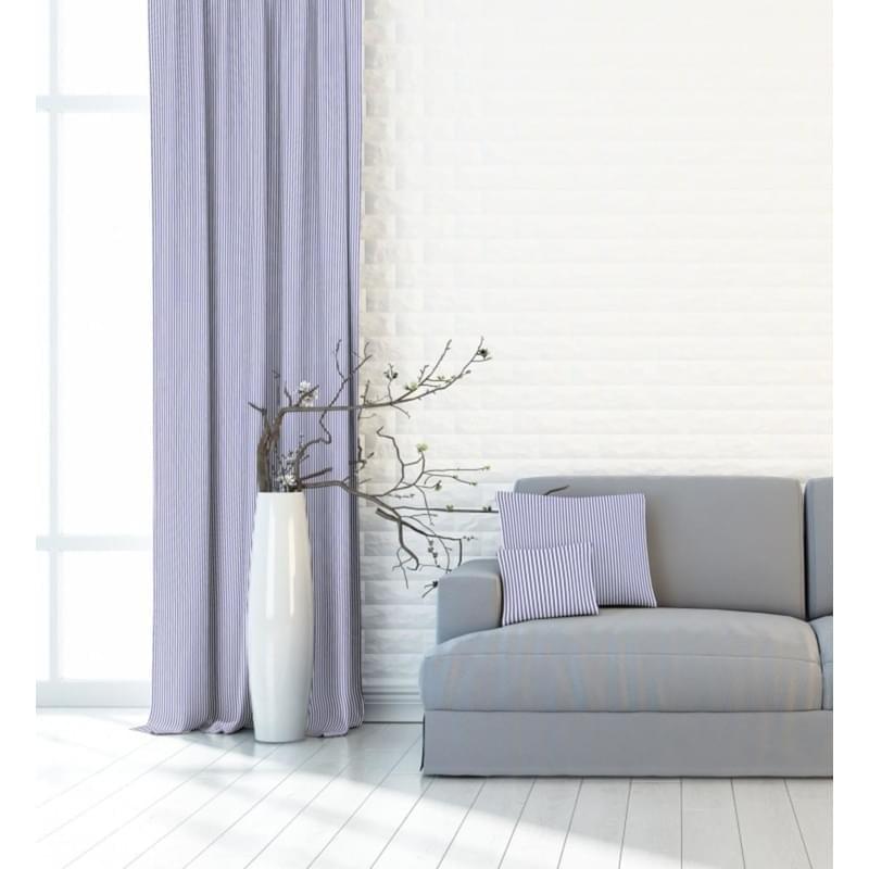 Forbyt, Závěs dekorační, OXY Proužek úzký 150 cm, šedomodrý