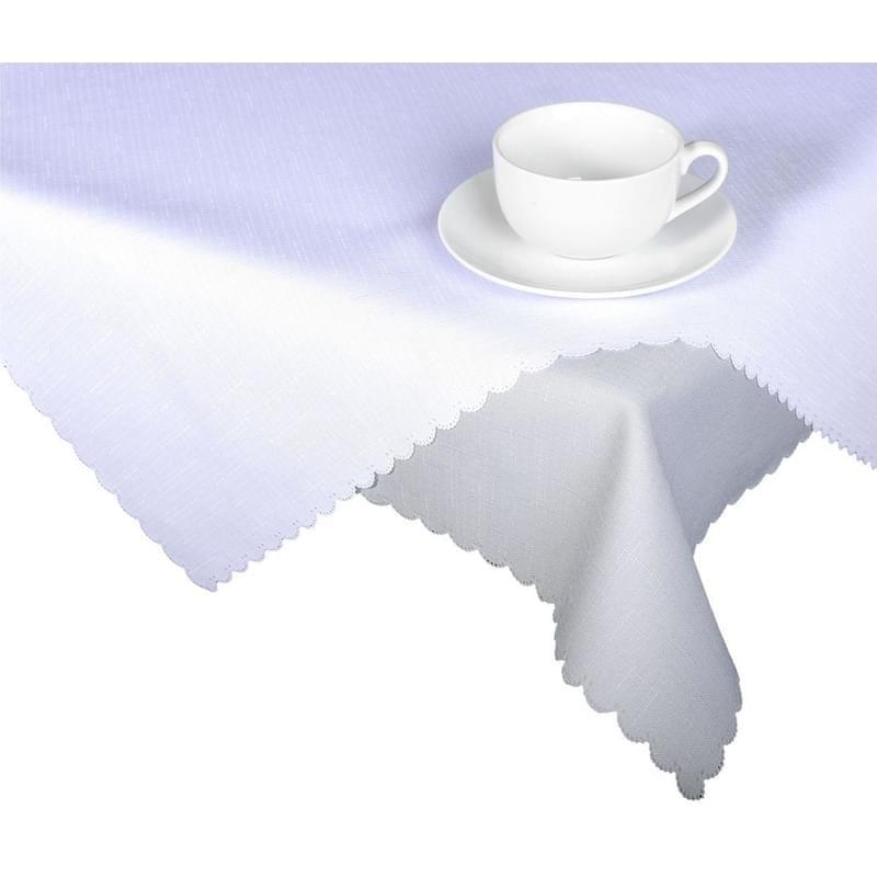 Forbyt, Ubrus s nešpinivou úpravou, Jednobarevný Deštík, bílý 50 x 100 cm