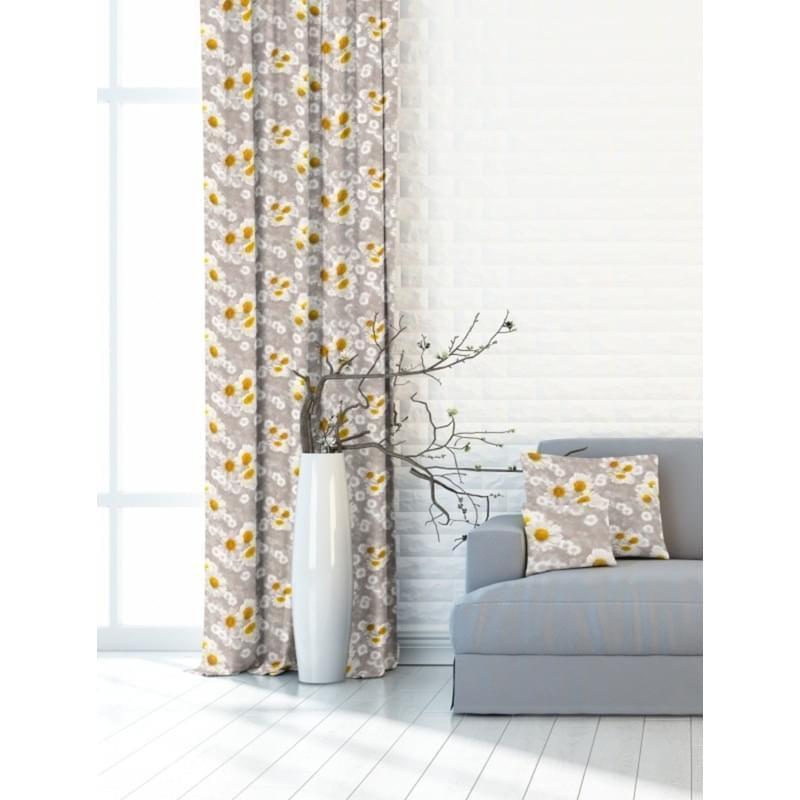 Forbyt, Závěs dekorační nebo látka, OXY Chryzantéma, béžová, 150 cm