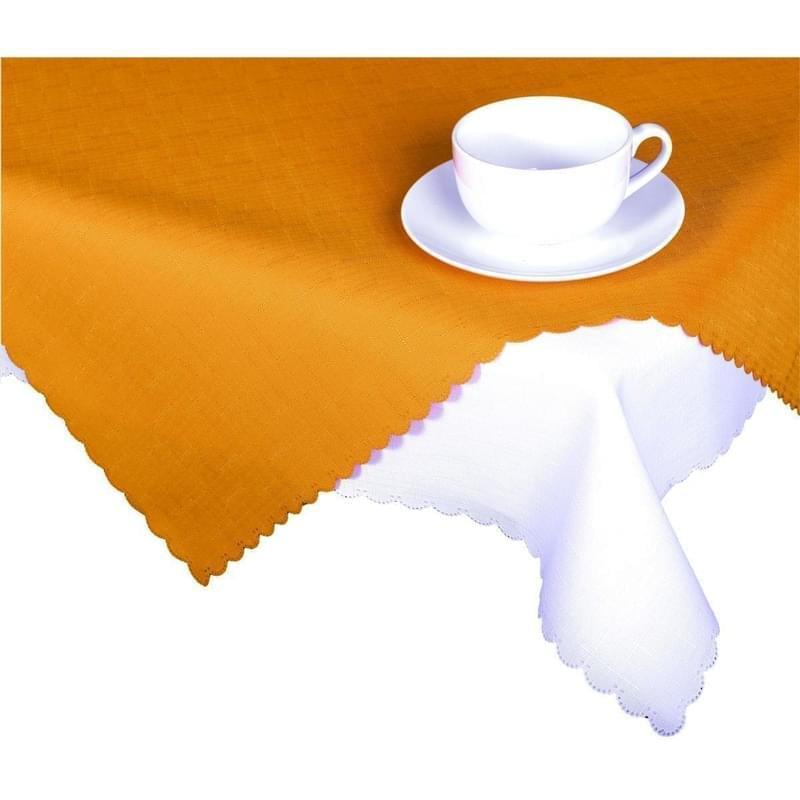Forbyt, Ubrus s nešpinivou úpravou, Jednobarevný Deštík, oranžový 50 x 100 cm