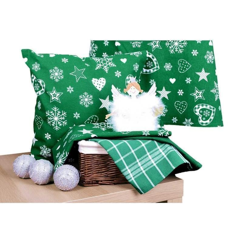 Forbyt, Návlek na polštář, Vánoční srdce, zelené