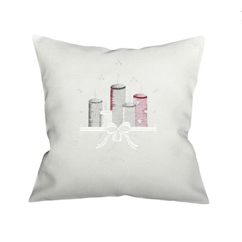Forbyt, Návlek na polštář, Šedočervené svíčky, šedá, 40 x 40 cm