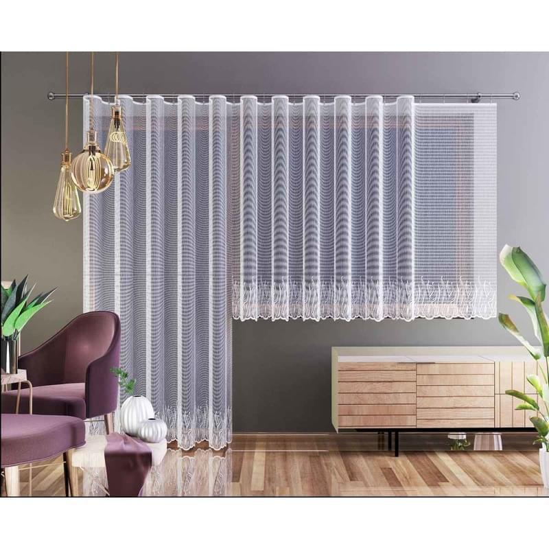 Forbyt, Hotová záclona nebo balkonový komplet, Nela, bílá 250 x 120 cm