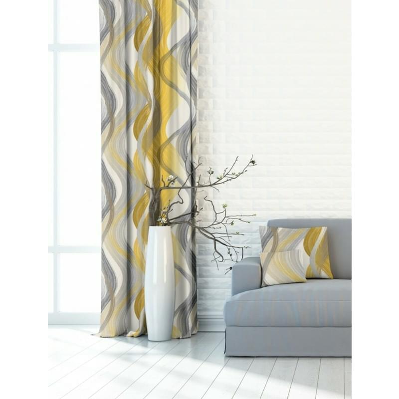Forbyt, Dekorační látka nebo závěs, Blackout Vlny 150 cm, žluté
