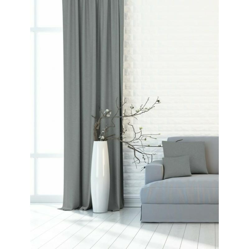 Forbyt, Dekorační látka nebo závěs, Blackout vzor Plátno 150 cm, světle šedá