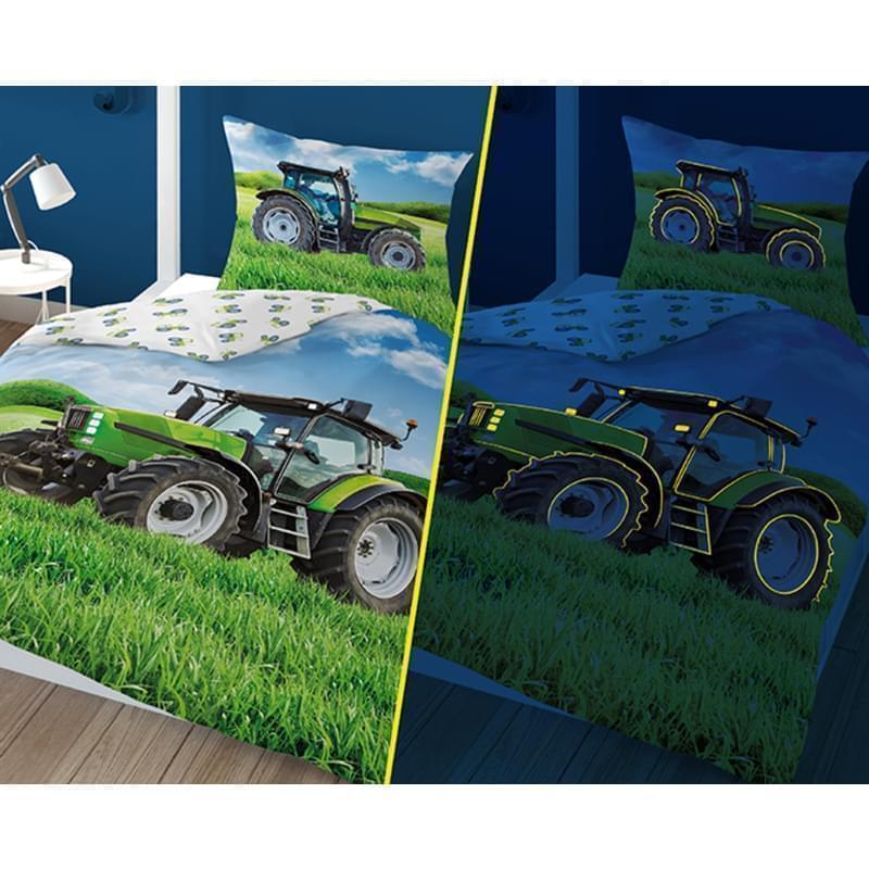 Svítící povlečení bavlněné, Traktor