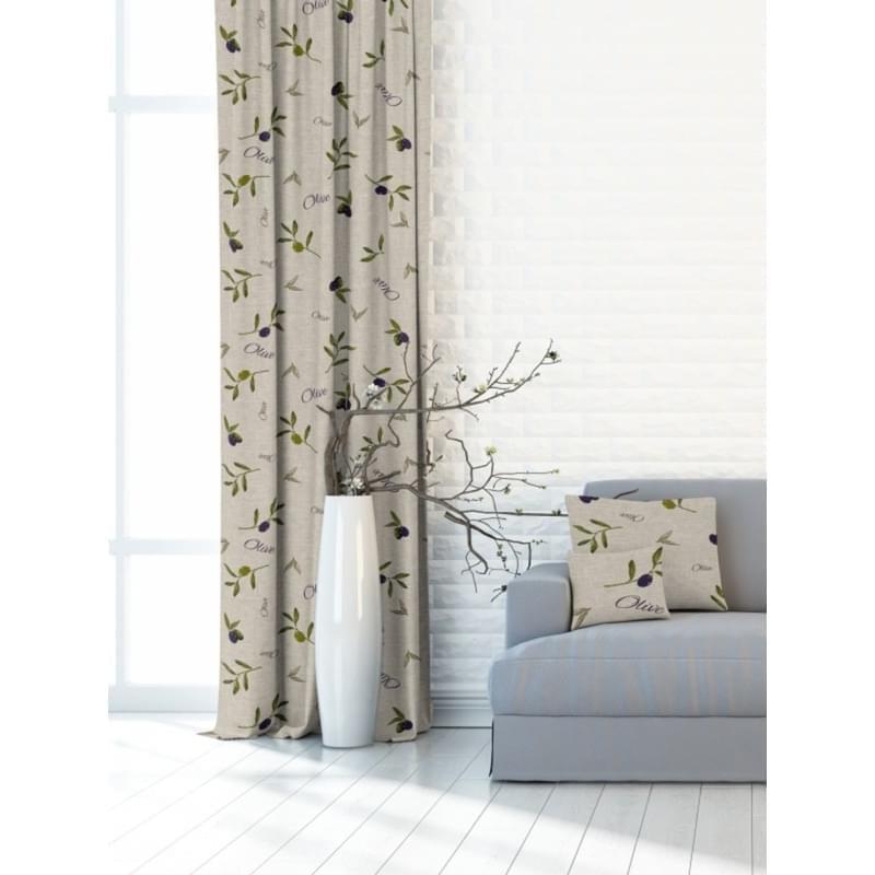 Forbyt, Závěs dekorační nebo látka, OXY Olivy, zelenobéžové, 150 cm