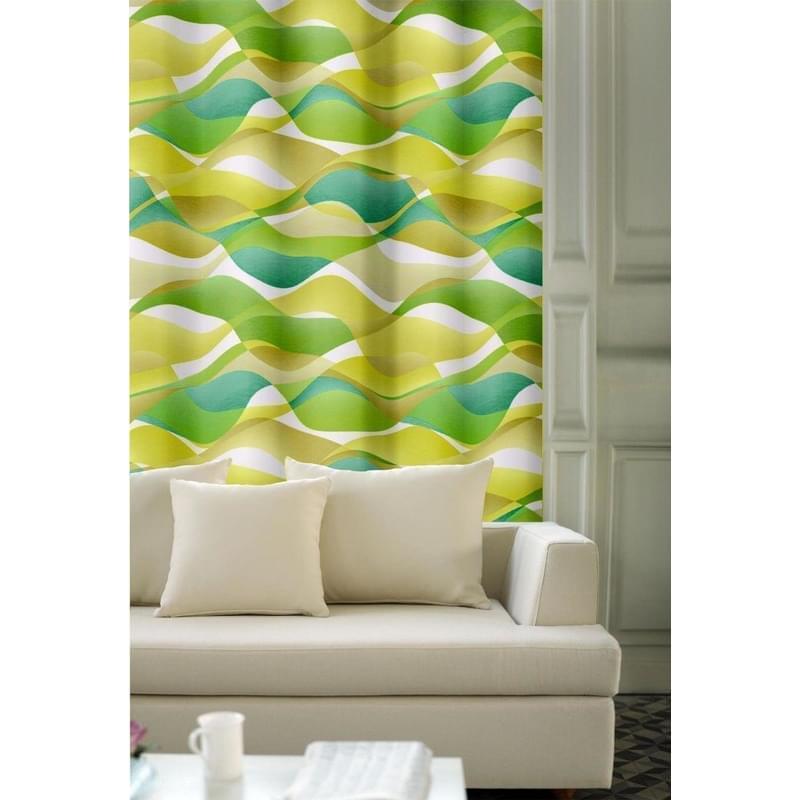 Forbyt, Závěs dekorační, OXY Hawaii 1, béžovo-zelený, 150 cm