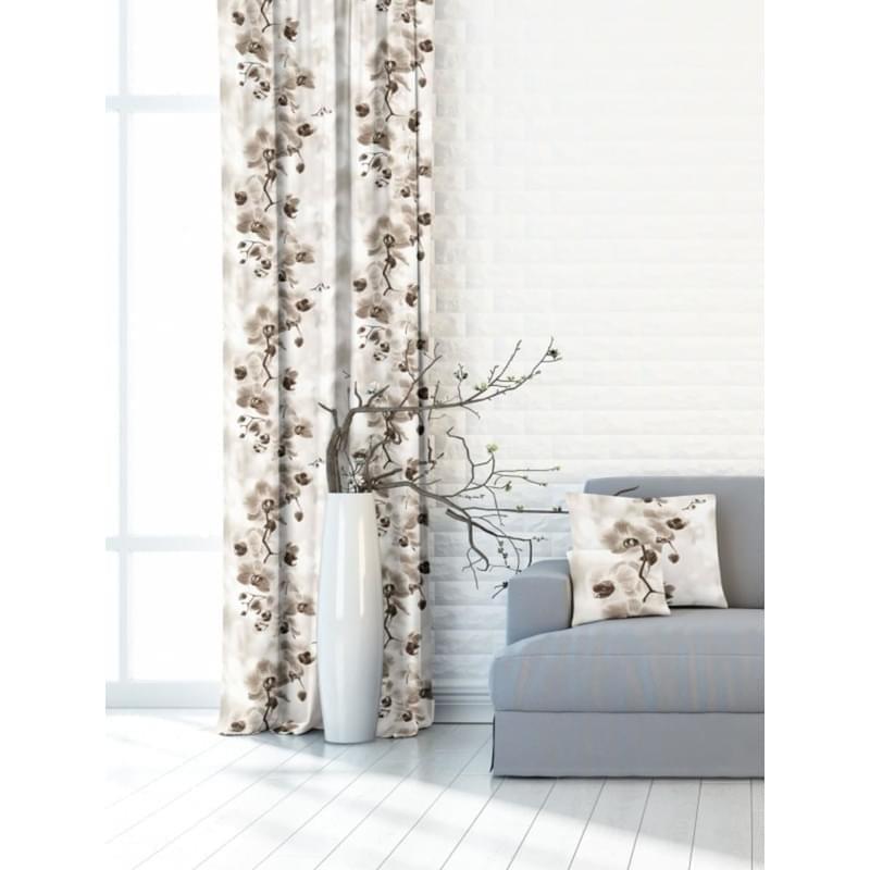 Levně Forbyt, Závěs dekorační nebo látka, New York Orchidej béžová, 150 cm