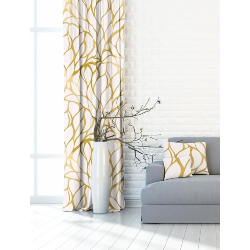 Forbyt, Závěs dekorační nebo látka, OXY třpyt, žlutooranžový 150 cm