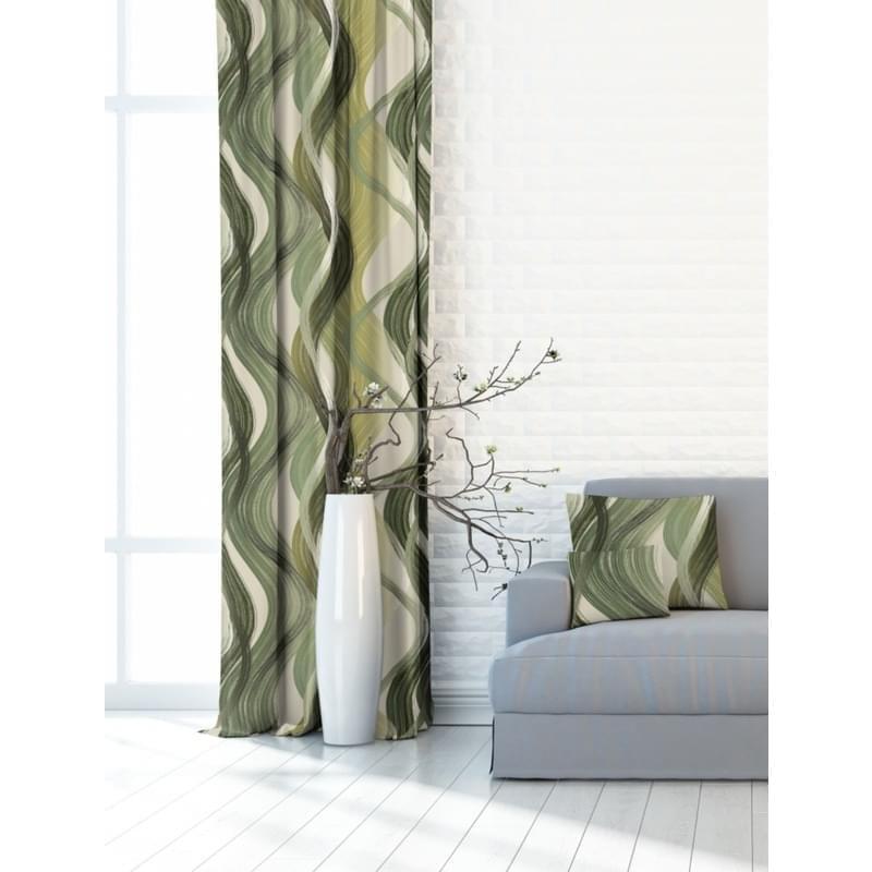 Levně Forbyt, Závěs dekorační nebo látka, OXY Vlny, zelený, 150 cm
