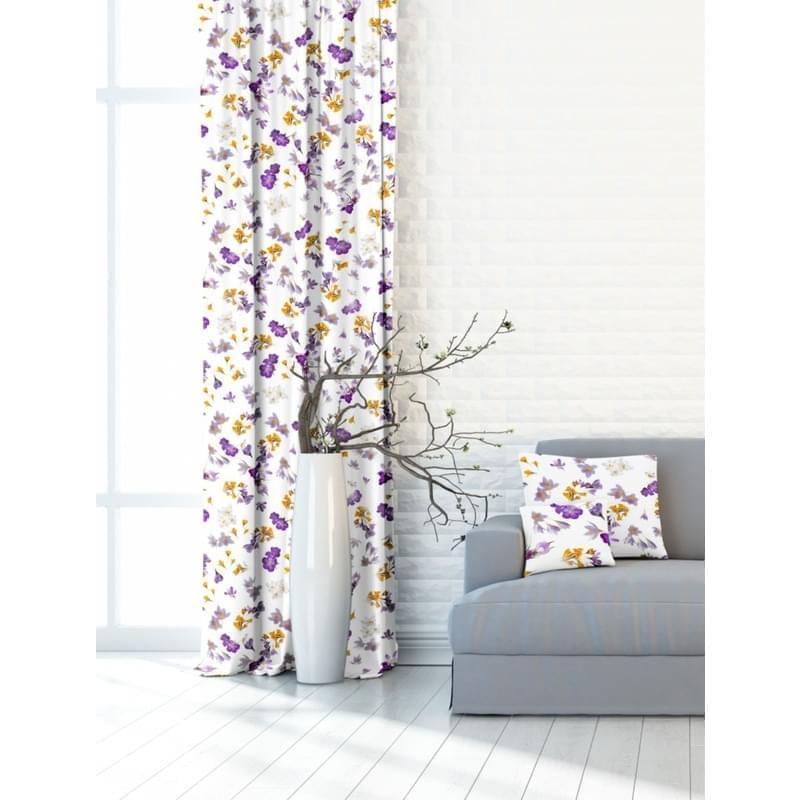 Forbyt, Závěs dekorační nebo látka, OXY Frézie, fialový, 150 cm