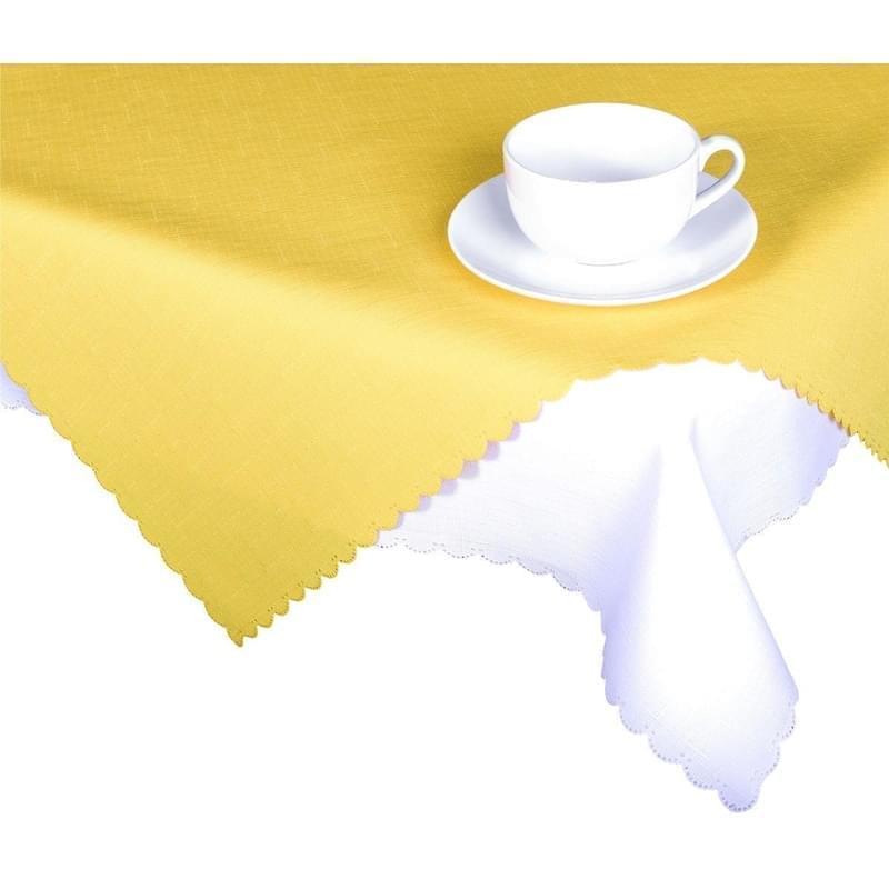 Forbyt, Ubrus s nešpinivou úpravou, Jednobarevný Deštík, žlutý 50 x 100 cm