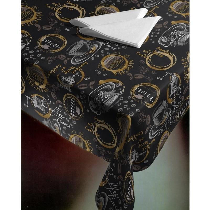 Forbyt, Ubrus s nešpinivou úpravou, Perfect Coffee, černý 40 x 160 cm