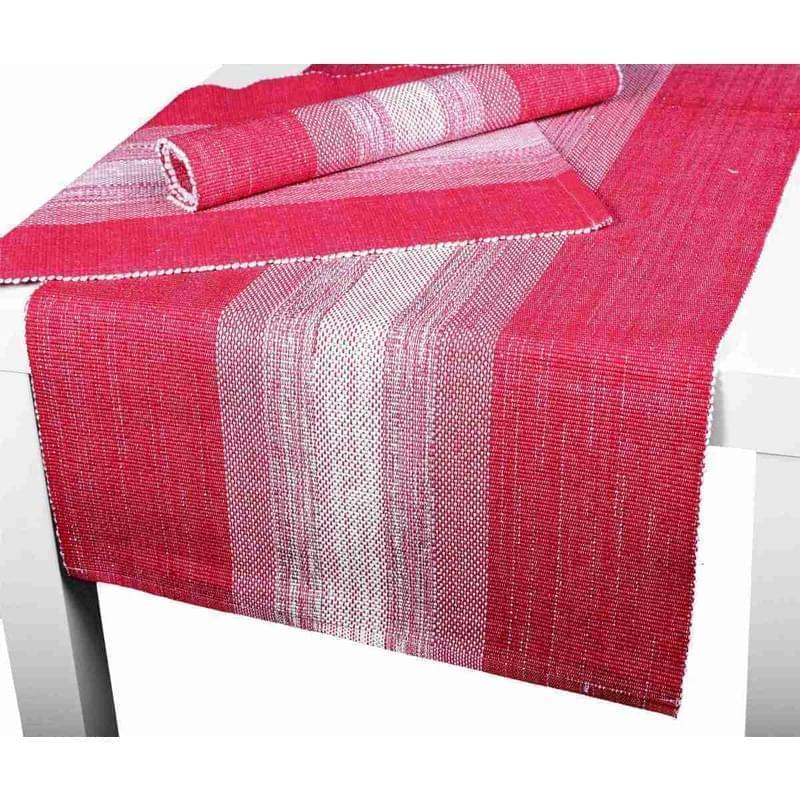 Forbyt, Prostírání bavlněné, Elegantní pruhy lesklé, červené 40 x 120 cm