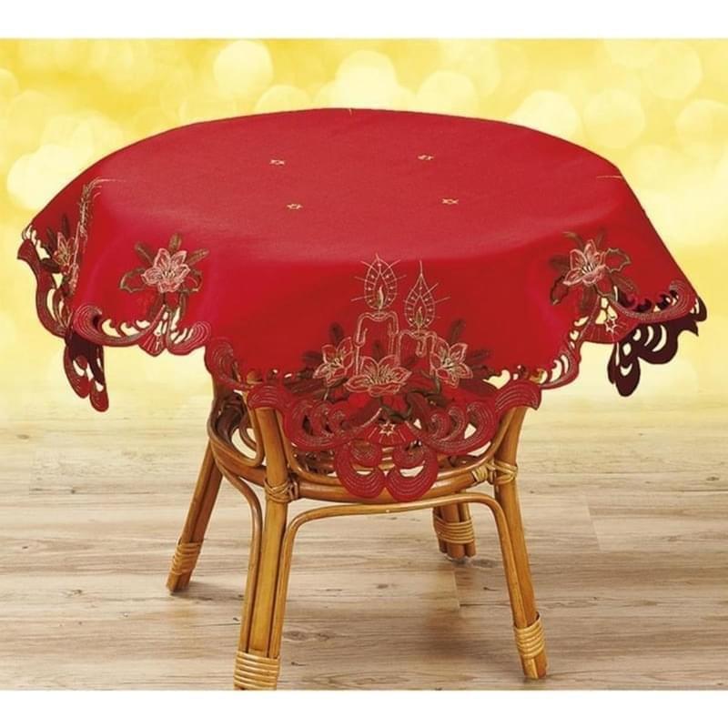 Forbyt Ubrus vánoční Červený, červená, ovál, čtverec 30 x 45 cm