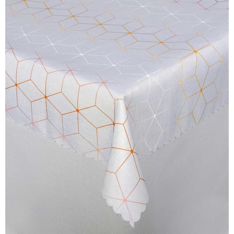 Forbyt, Ubrus s nešpinivou úpravou, Aneta, šedo-oranžový 100 x 140 cm