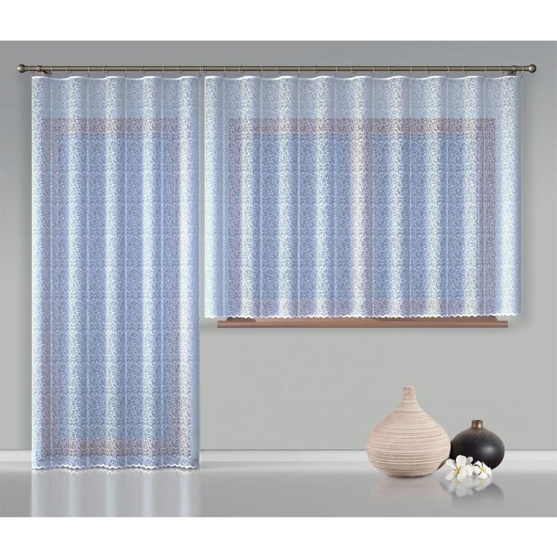 Forbyt, Hotová záclona nebo balkonový komplet, Anita, bílá 300 x 130 cm + 200 x 250 cm