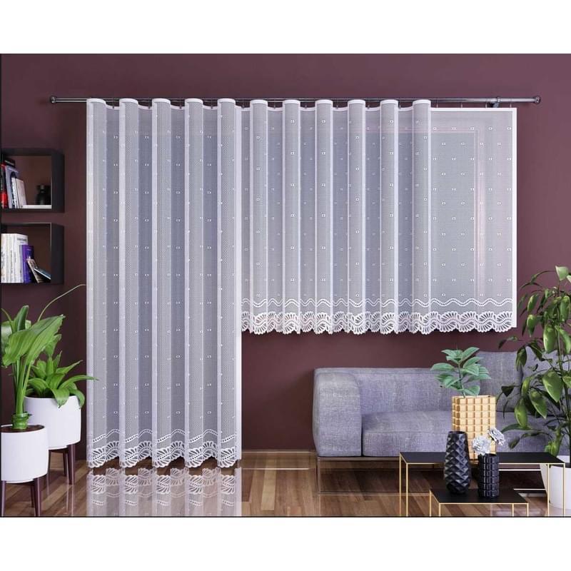 Forbyt, Hotová záclona nebo balkonový komplet, Aurelia, bílá 350 x 160 cm