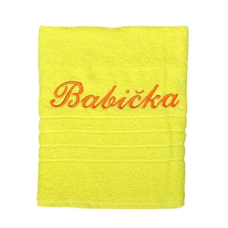 Forbyt, Dárkový ručník, Babička, žlutý