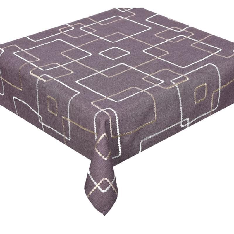 Forbyt, Ubrus celoroční, Korálkové čtverce, hnědý 40 x 90 cm