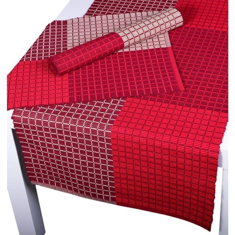 Forbyt, Prostírání bavlněné, Cubes, bordový 40 x 120 cm