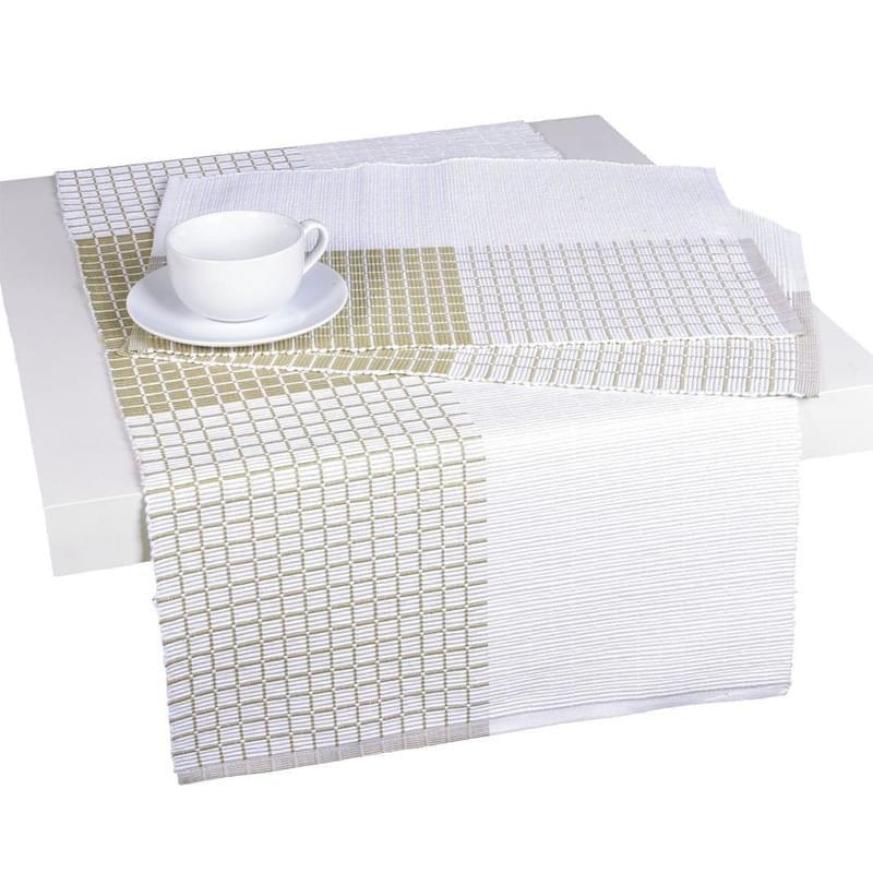 Forbyt, Prostírání bavlněné, Cubes, smetanovobéžový 40 x 120 cm