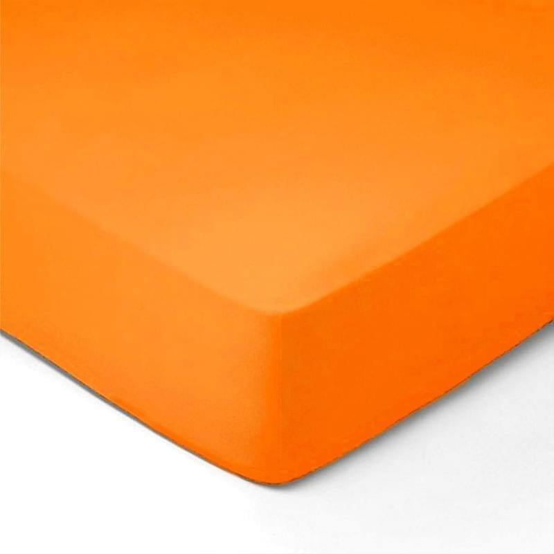 Forbyt, Prostěradlo, Jersey, oranžová 120 x 200 cm